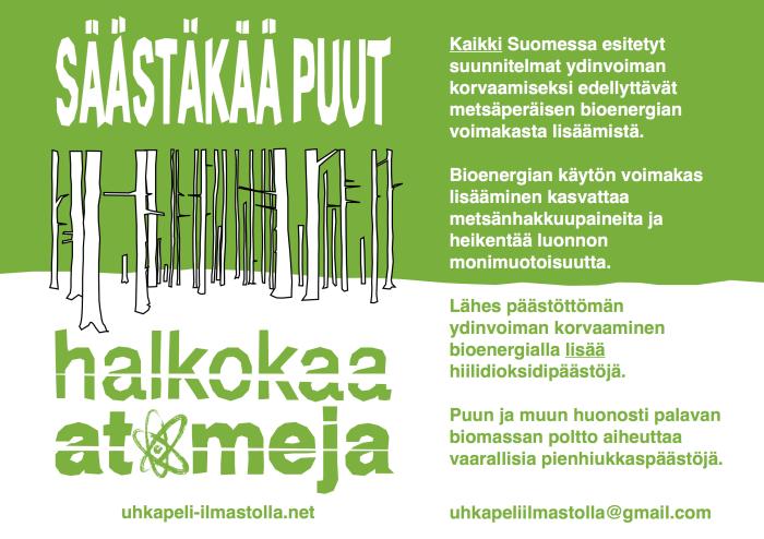 Muutama fakta bioenergiasta.